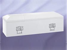 高級布張棺 白光