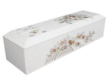 高級刺繍棺 華(白)
